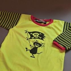 barntröja pirat gul randig