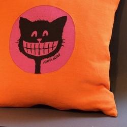 kudde smilekatt orangerosa 50 x 50